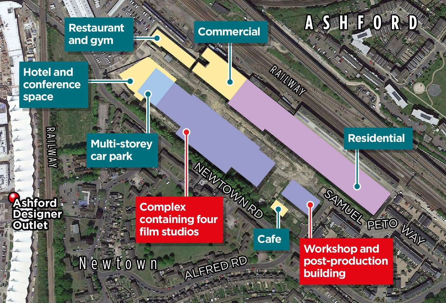 A map of how the Newtown site will look