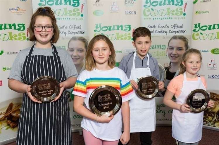 Alfred with other winners of the Young Chefs Competition