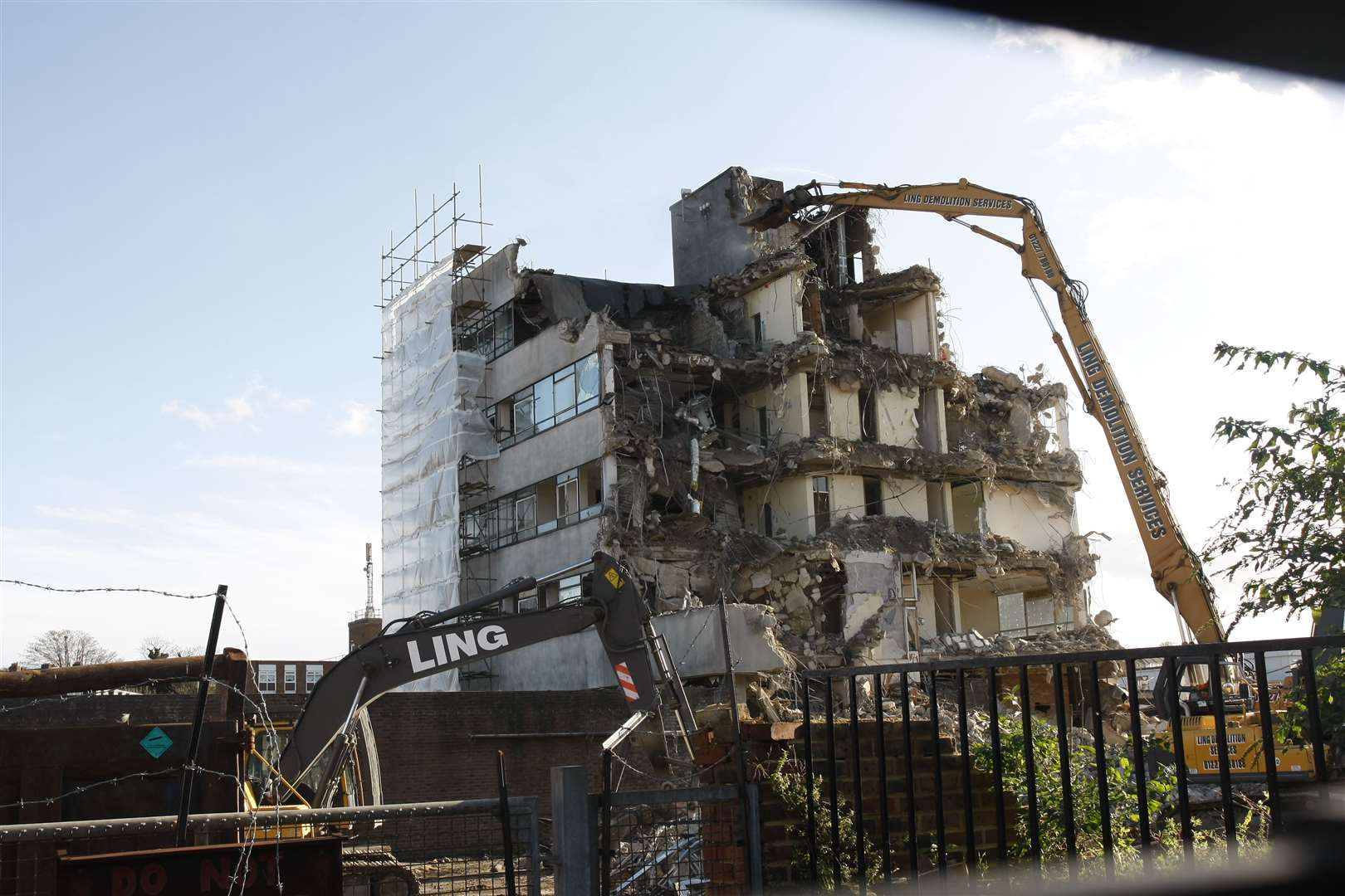 The demolition of the station in 2009. Picture: Peter Still