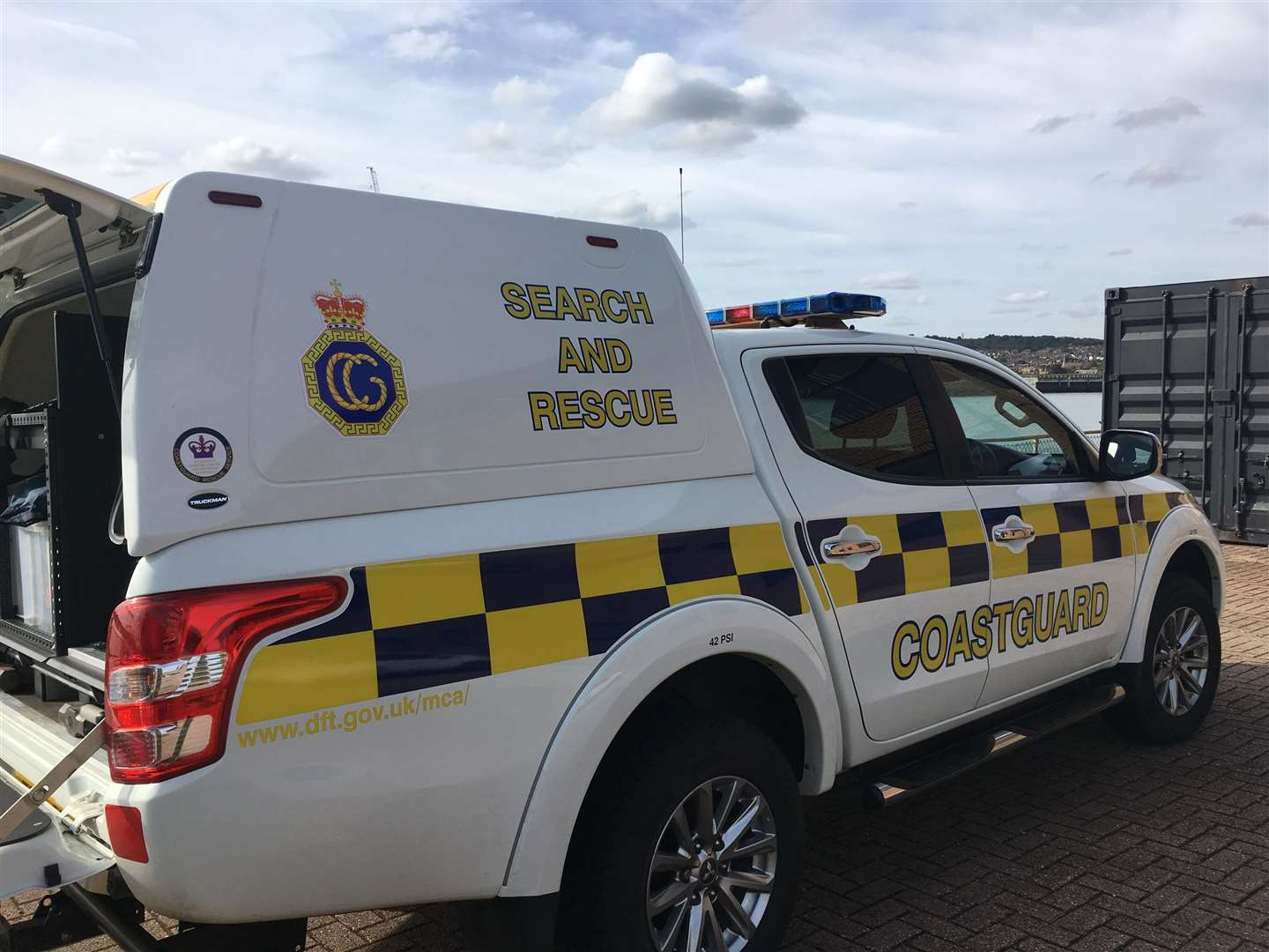 Coastguard vehicle. Stock picture
