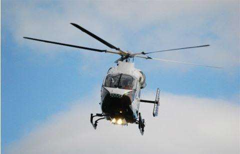 An air ambulance landed nearby the incident at Hawkinge Community Centre