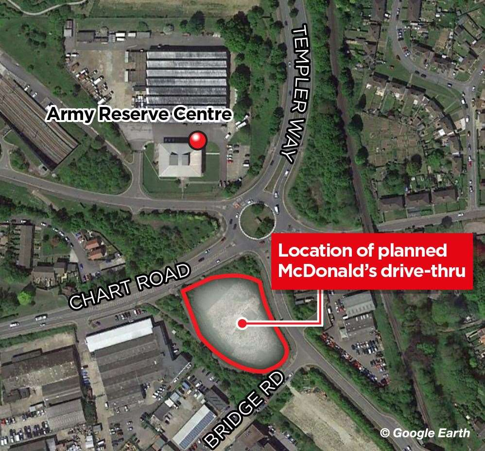 Where the new McDonald's was set to go