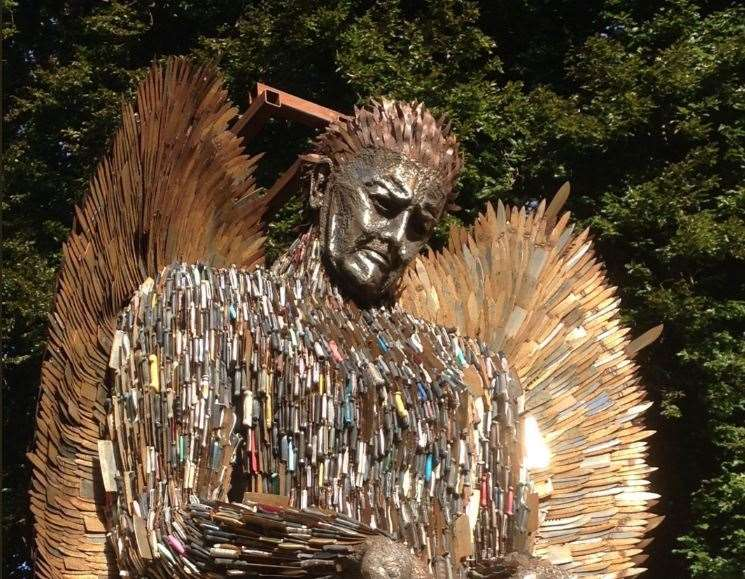 The Knife Angel was installed in Rochester last year