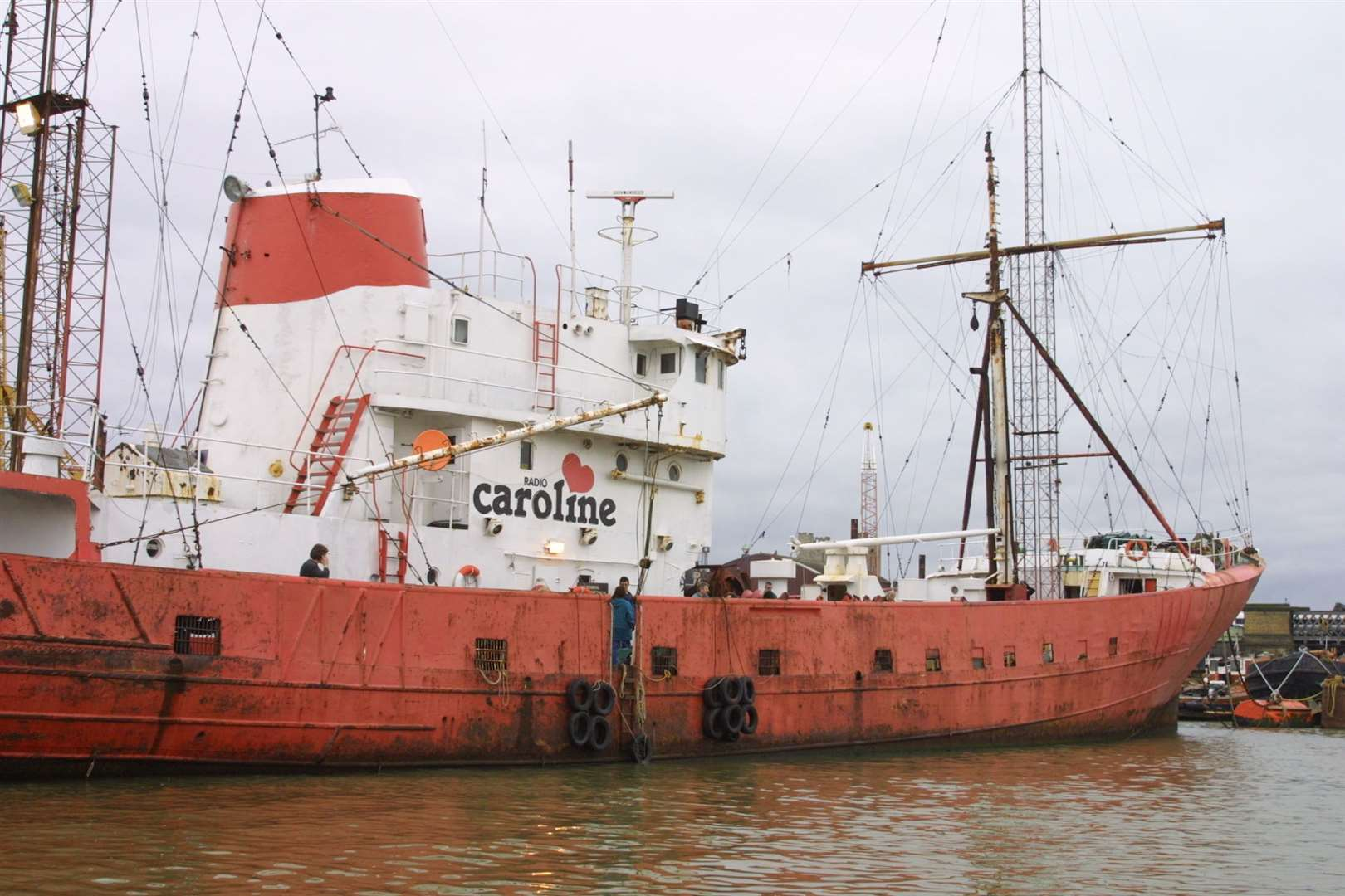Radio Caroline's next ship the Ross Revenge - pictured at Chatham