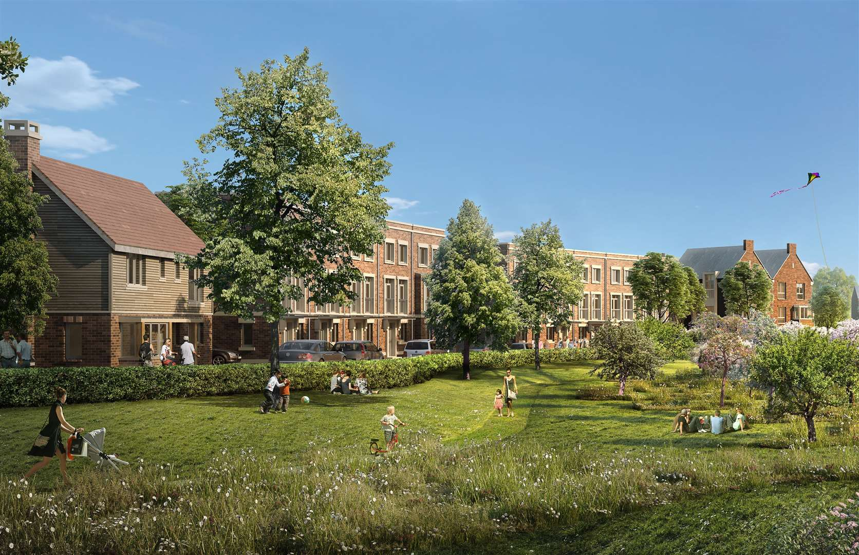 How part of the huge Chilmington Green scheme could look