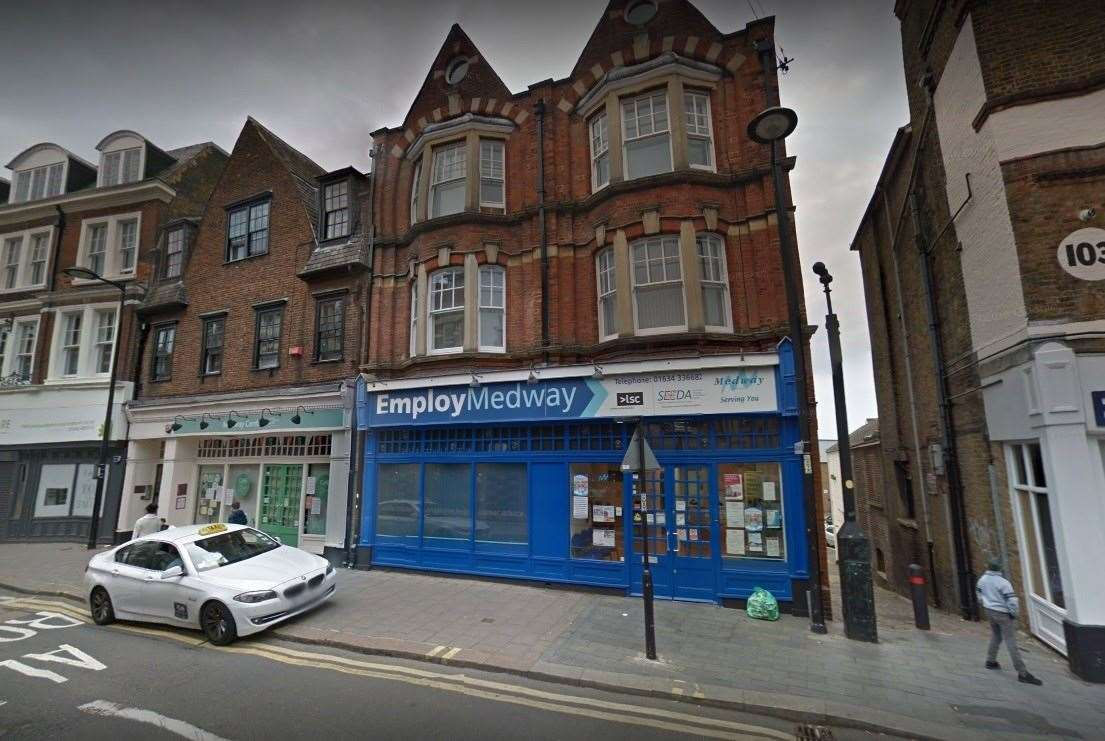The EmployMedway centre in Chatham High Street closed on December 18. Picture: Google