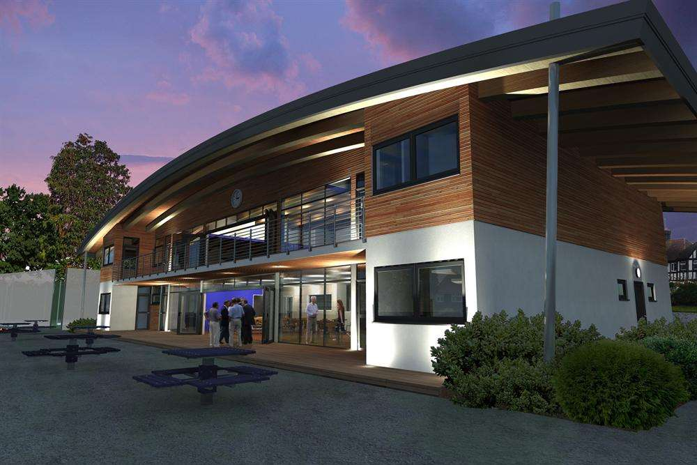 Artist impressions of the new pavilion at Dartford Cricket Club