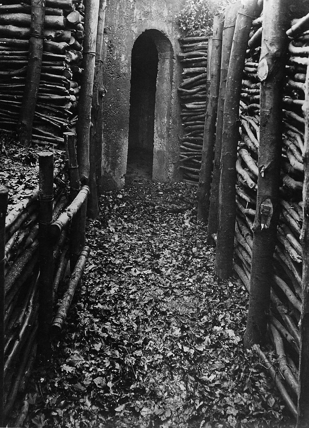 The entrance to Westfield Shaw pillbox. Picture: Royal Engineers Archive