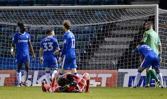 Gillingham concede late to lose against MK Dons Picture: Ady Kerry (1341637)