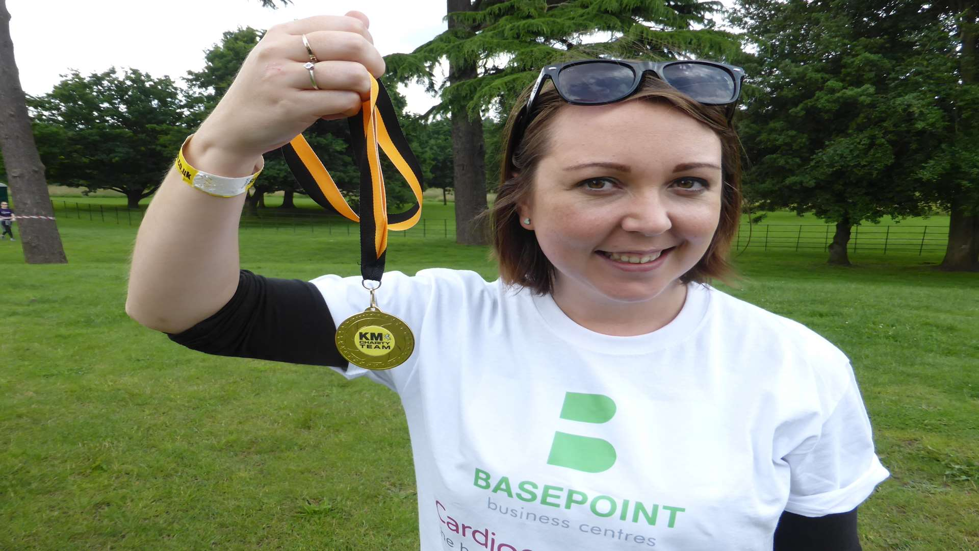 Kirsty Gordon-Thomas was the highest fundraiser on the day raising more than £1k for Cardiomyopathy UK.