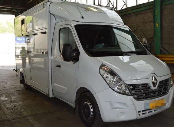 The horsebox used in the crime. Picture: NCA.