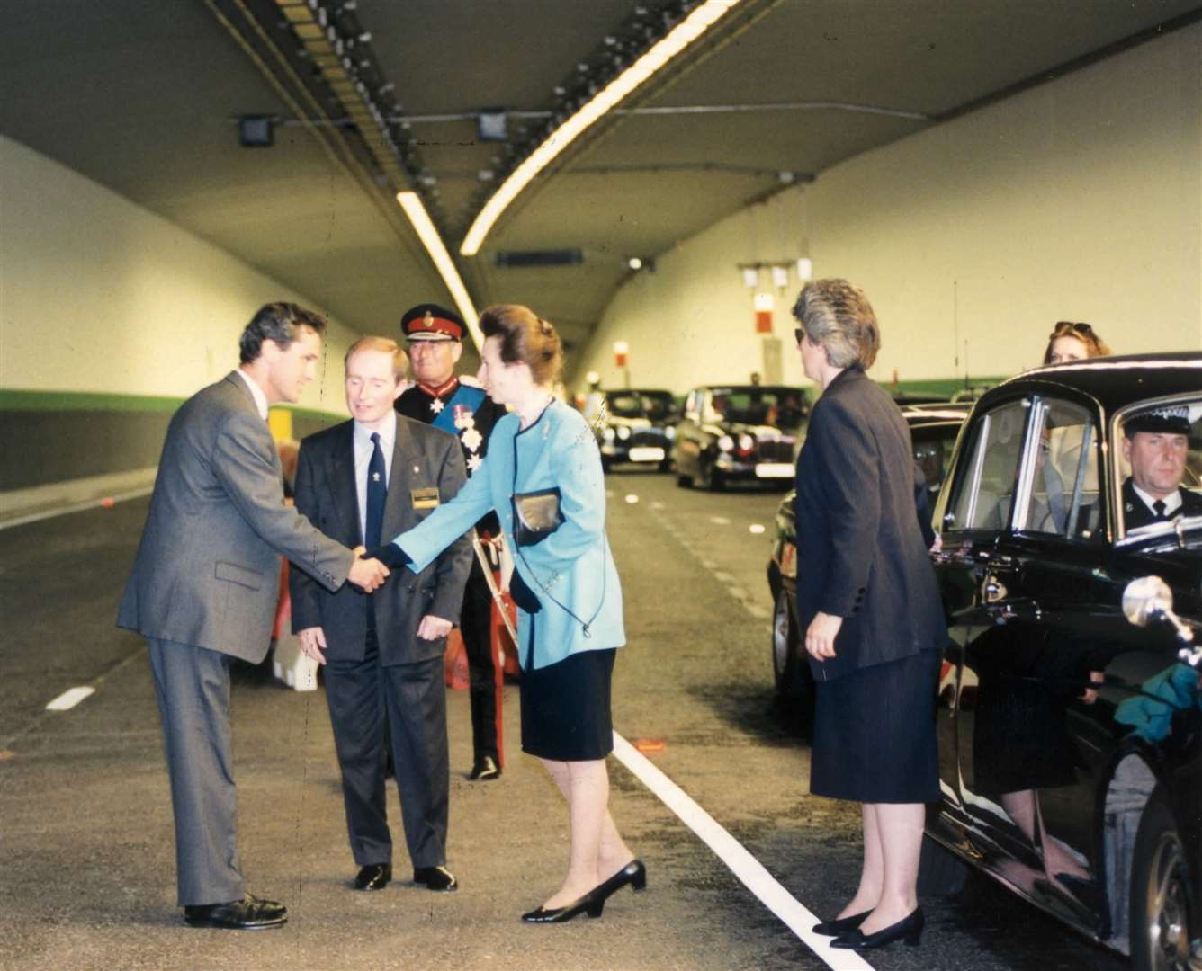 Princess Anne at the opening of the Medway Tunnel.1996