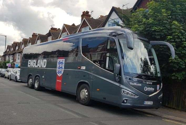The England coach was spotted in Whitstable. Pic: Luke Earl (12211328)