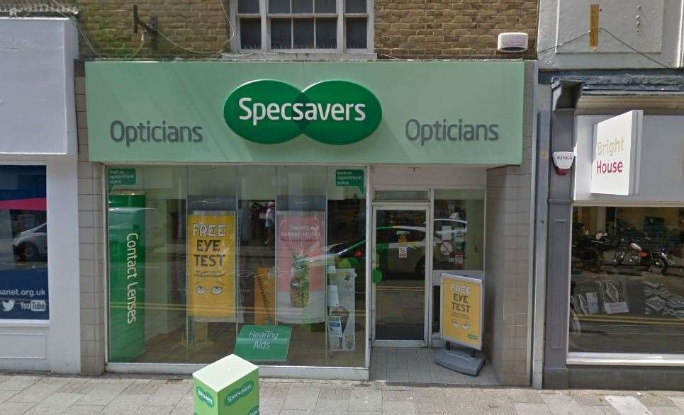 Specsavers in High Street, Margate, is relocating. Picture: Google Street View.