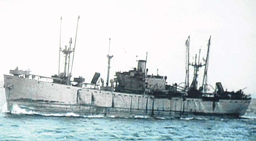 How the SS Richard Montgomery used to look before sinking off Sheerness