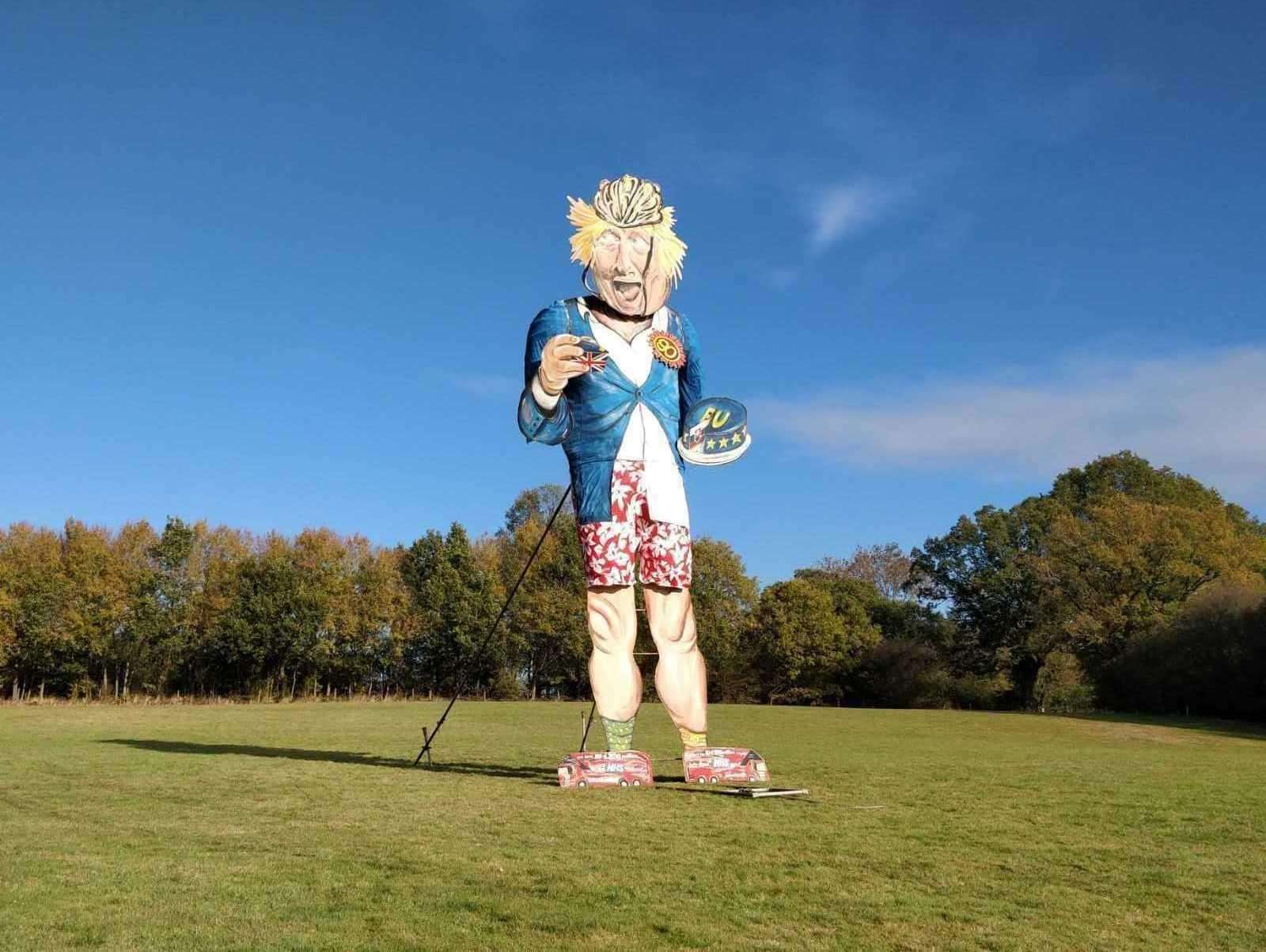Boris Johnson is the latest celebrity effigy to be burned at the Edenbridge bonfire