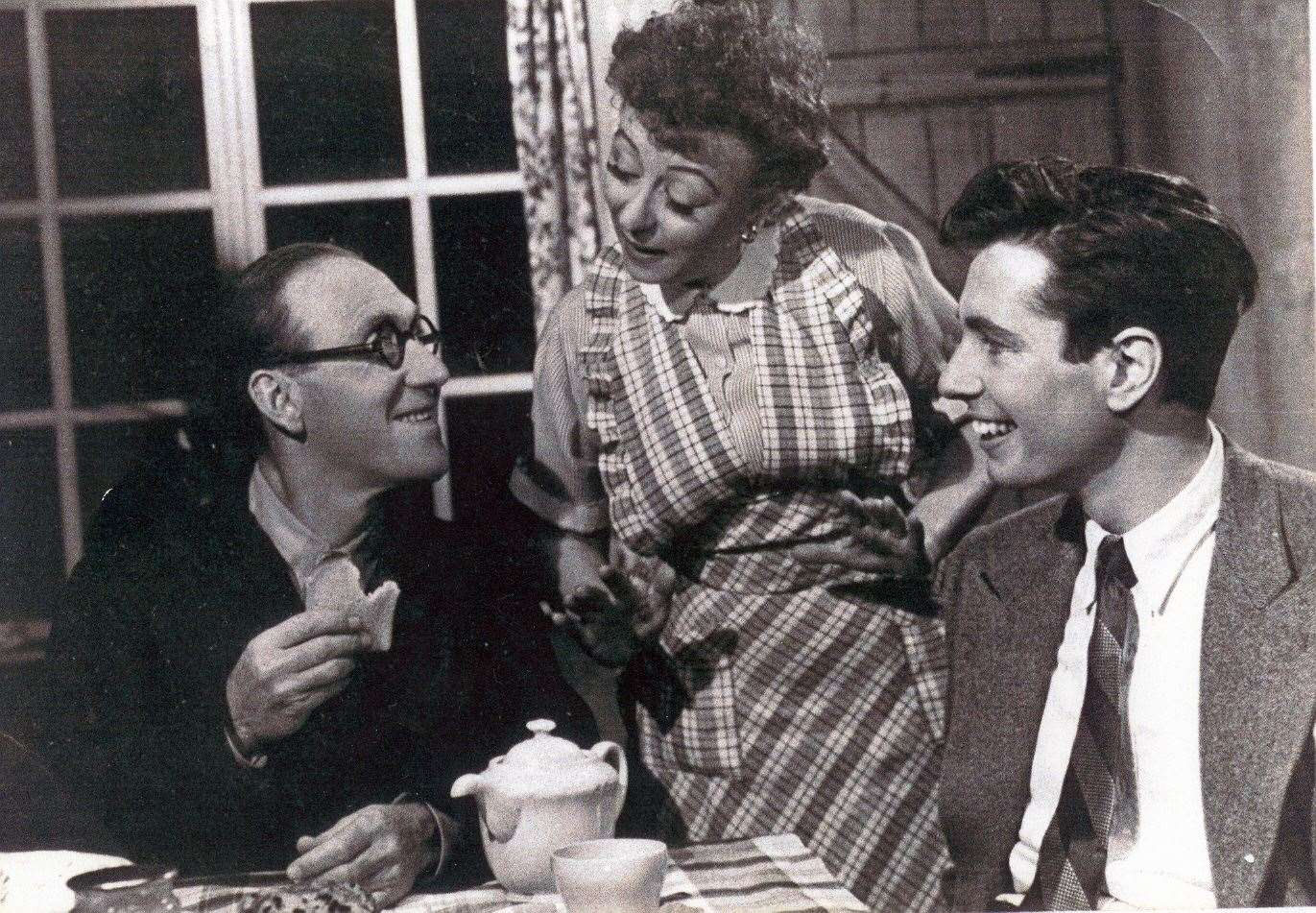 Wartime favourite Arthur Askey, left, seen here with Thora Hird and Ian Gardiner