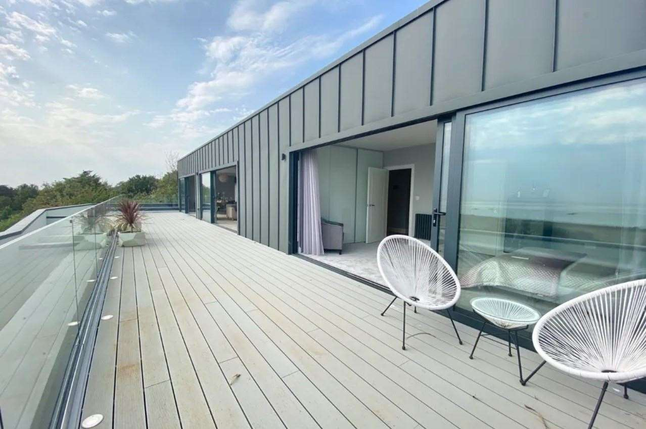 The roof terrace offering panoramic views. Picture: Zoopla / CR Child & Partners