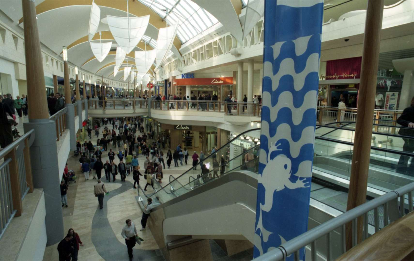 Inside Bluewater on its opening day