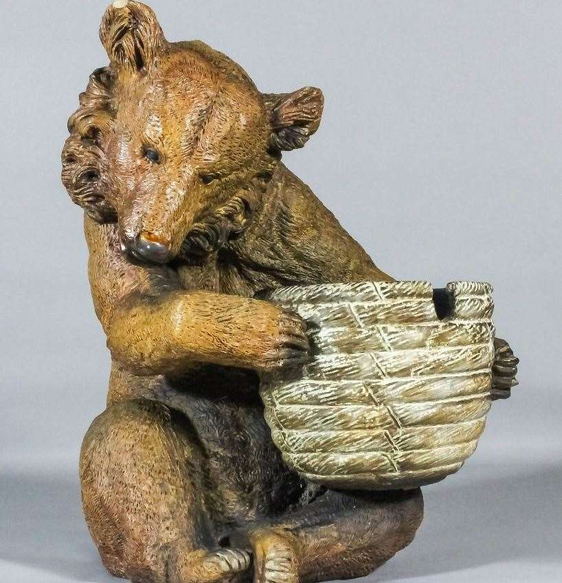 This Doulton Lambeth stoneware bear found in a garden sold for £8,000
