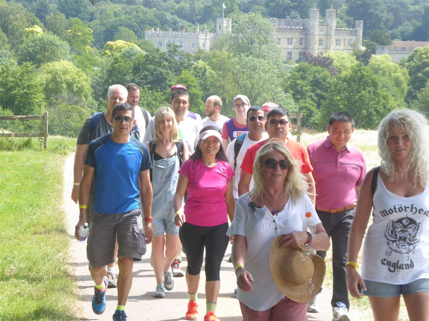 The annual KM Charity Walk takes in views of Leeds Castle in Maidstone.