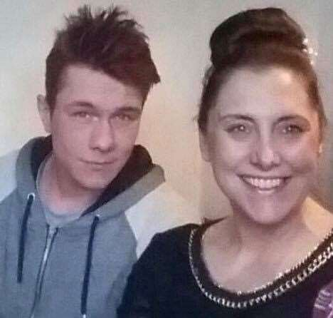 Lewis Burdett with his mother Sarah Wellgreen