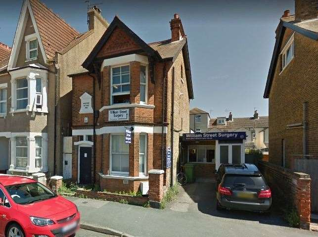 William Street surgery in Herne Bay. Picture: Google