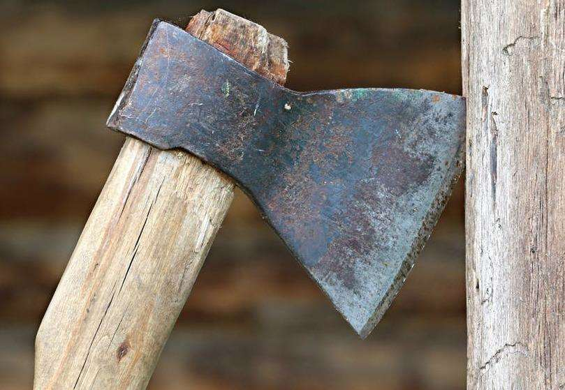An axe. Stock image