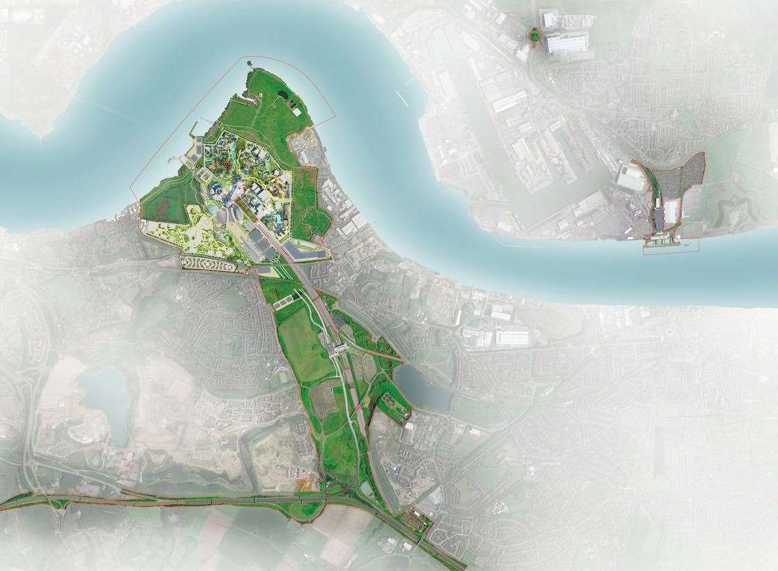 An aerial view of how The London Resort could look. Picture: The London Resort