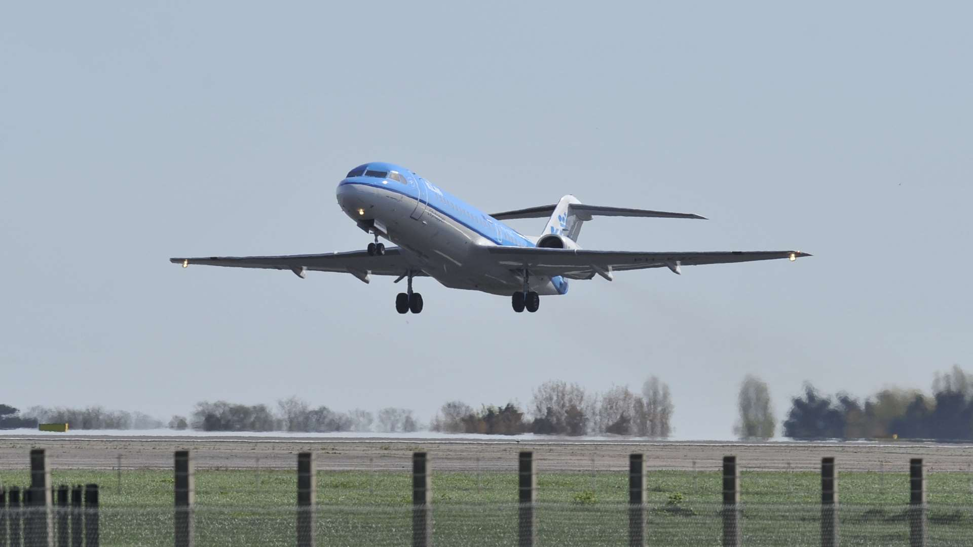 The last KLM passenger flight leaving Manston airport in 2014. Picture: Tony Flashman
