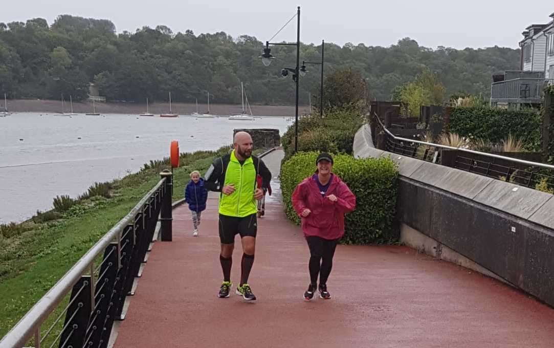 Runners in Medway braved the conditions and completed the marathon on Sunday