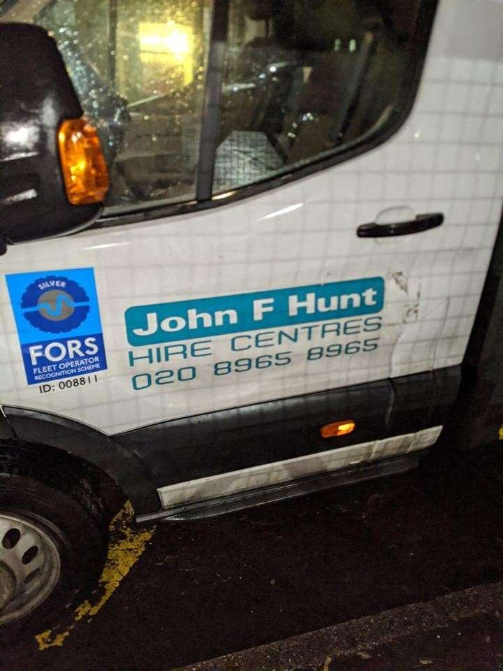 John F Hunt Power has apologised profusely for parking in front of the school gates(26825660)