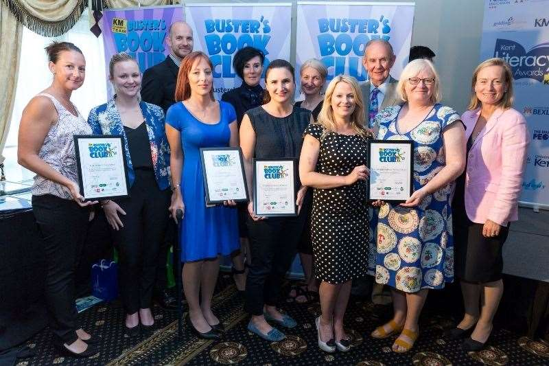 The Buster's Book Club Awards winners with their certificates. (13988490)