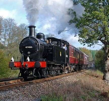 Stock picture from Spa Valley Railway in Tunbridge Wells