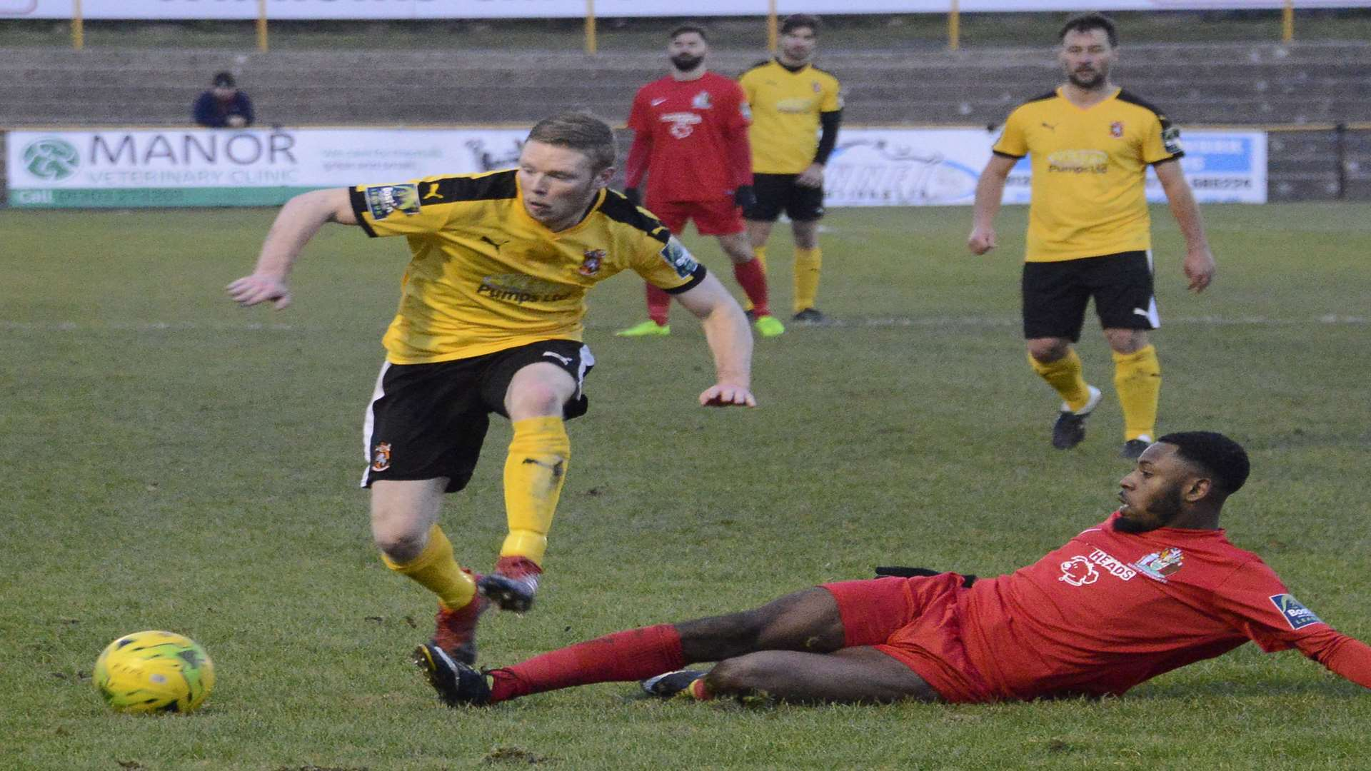 Folkestone lost 3-1 at home to Harrow on Saturday Picture: Paul Amos