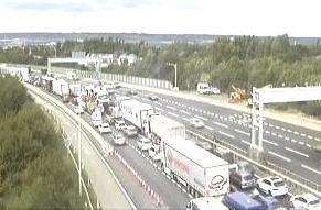 Traffic on the M20. Picture: Highways England