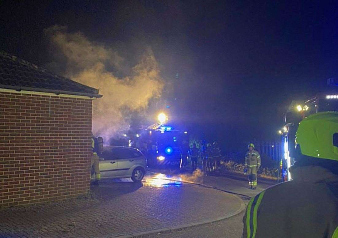 A retired Gurkha's car was set on fire in Elmstone Lane, Maidstone, last night in what family believe was a coronavirus-inspired attack
