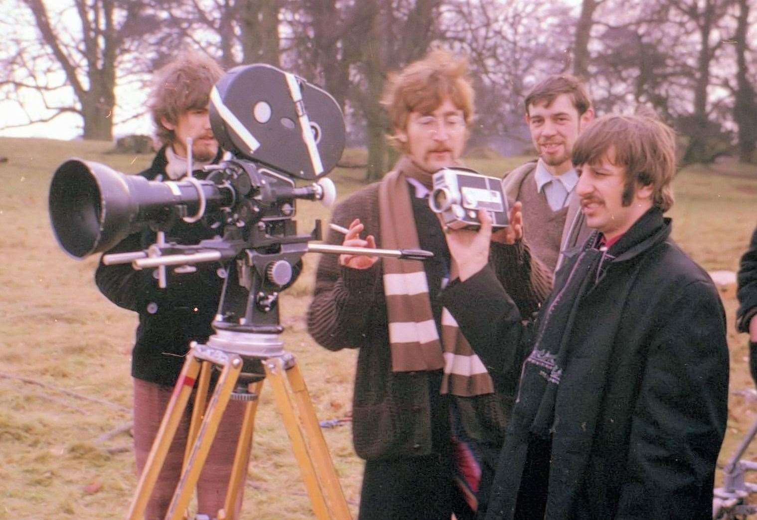 The Beatles when they visited Knole Park, Sevenoaks to shoot promotional films for Penny Lane and Strawberry Fields Forever in January 1967. Picture: Tracks