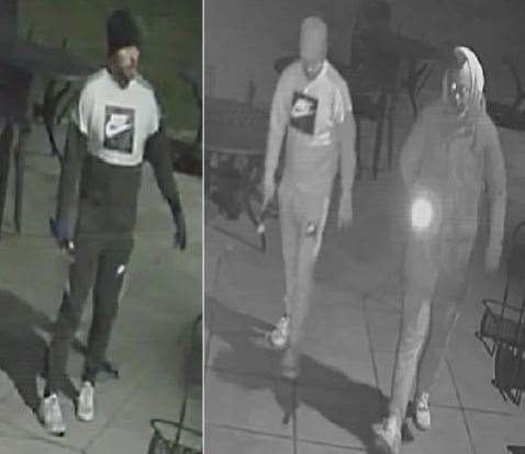 Police have released an image of two men they want to speak to following a burglary. Picture: Kent Police (7754296)