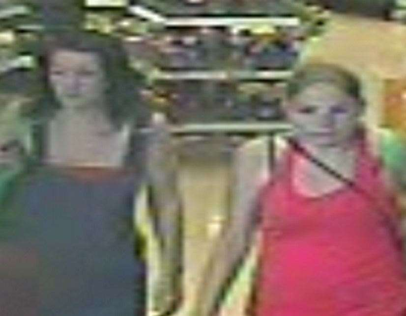 The women pictured may know something about the theft of vodka from a Sainsburys' store Picture: Kent Police