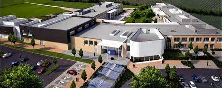 An artist's impression of the new buildings at Brompton Academy