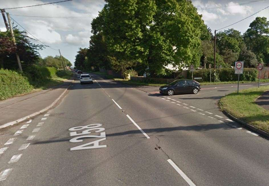 Felderland Lane has been used as a short cut for motorists travelling between the A258 and the A256 Picture: Google Maps