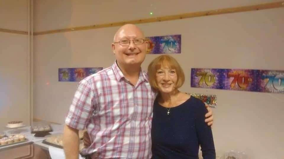 Daren Glenister with his mum Delia who passed last year