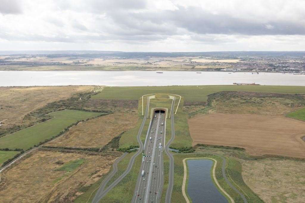 Latest photographs released by Highways England of the proposed Lower Thames Crossing. Picture: Highways England