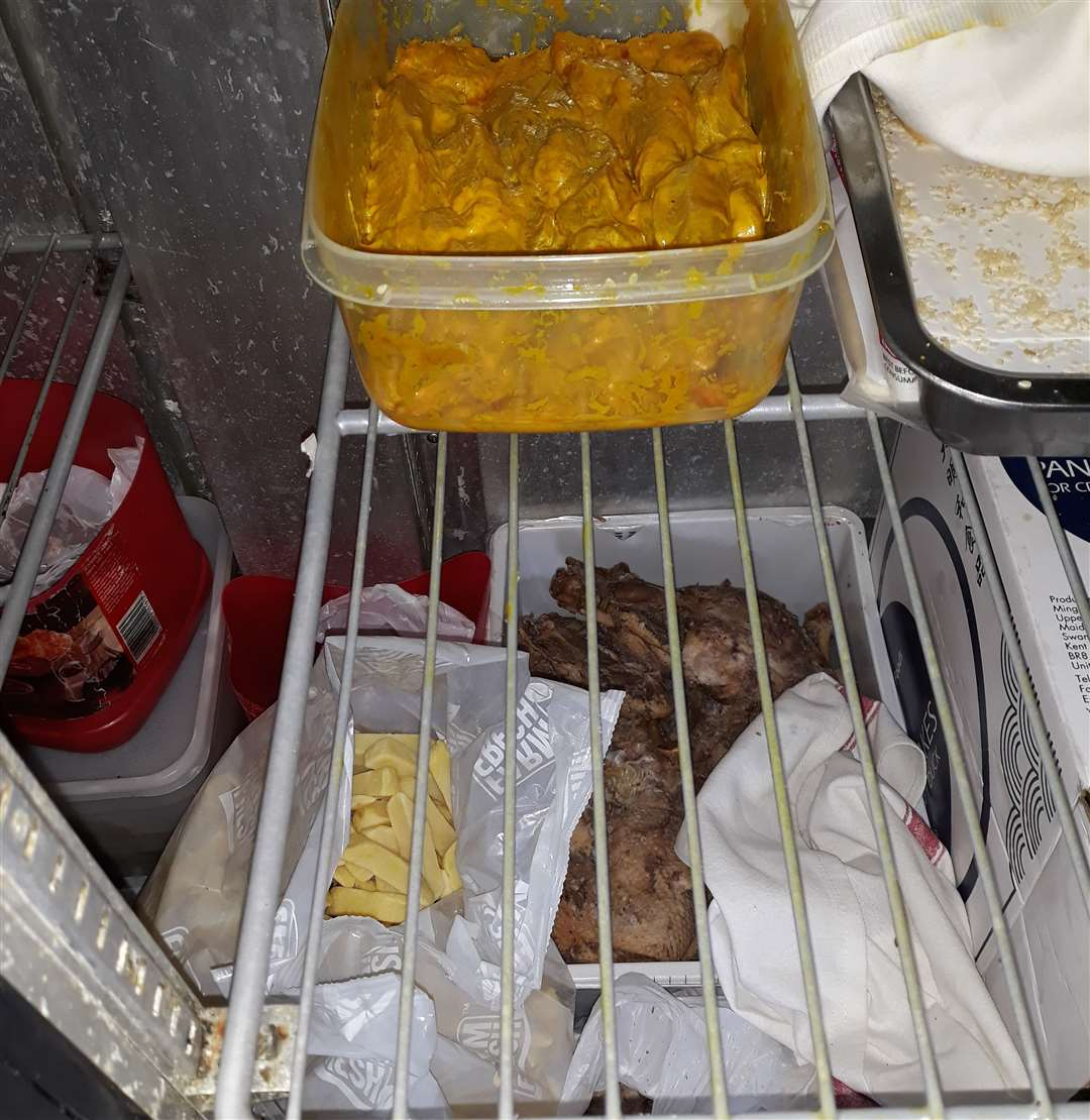 Raw chicken was being stored above cooked meats