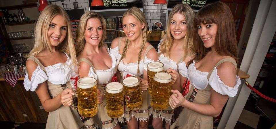 As an Oktoberfest rule, the beer that is drunk throughout the festival is only allowed to come from one of Munich's five breweries.