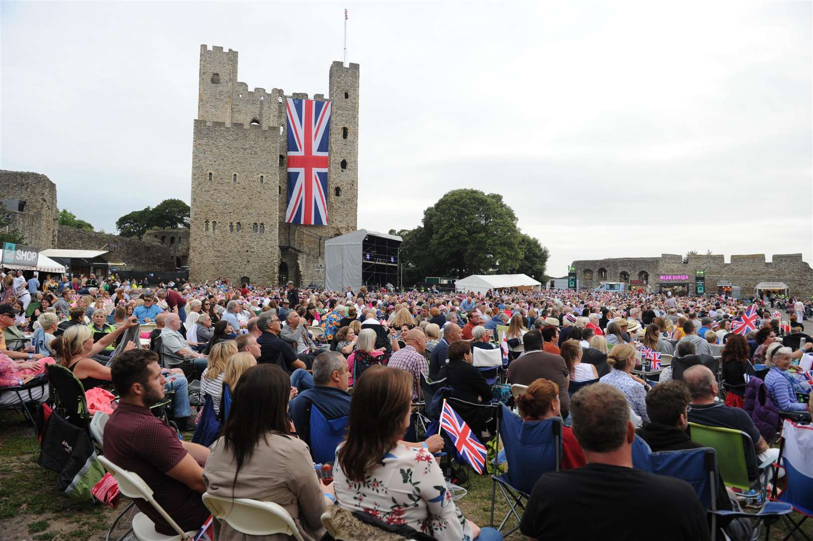 Rochester Castle during the concerts