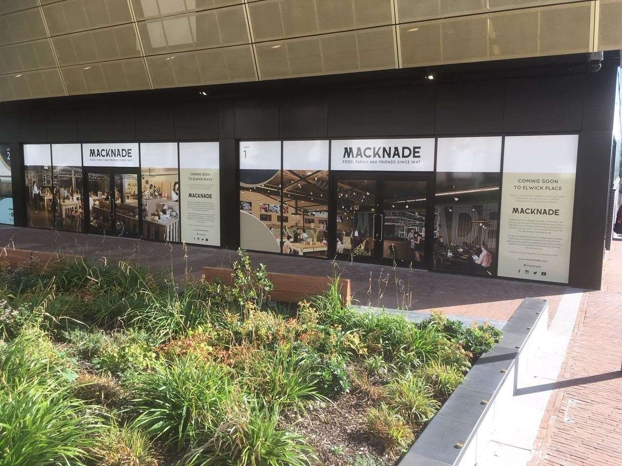 Macknade signage has appeared at Elwick Place