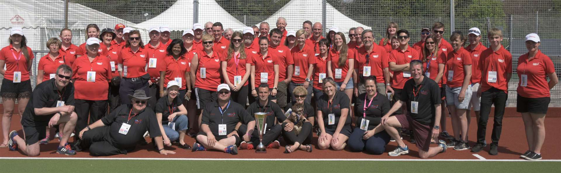 Holcombe's team of volunteers when they hosted the EuroHockey Club Trophy. Picture: Theresa Waight