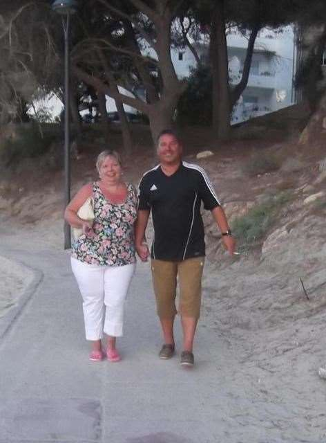 Karen and Rob together on one of many joyous family holidays